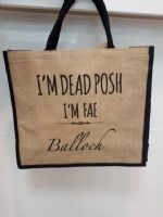 Dead Posh Large Jute Bag - Balloch